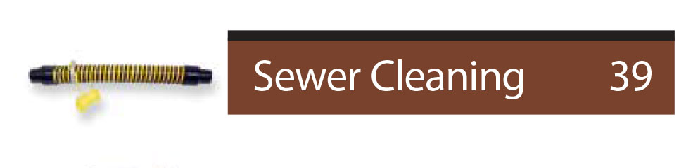 find parts related to sewer cleaning