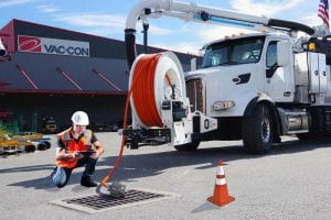 Vac-Con Offers New HD Video Nozzle - view of vacuum truck with video nozzle