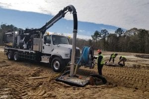 Vac-Con Recycler -Working on new construction site drain